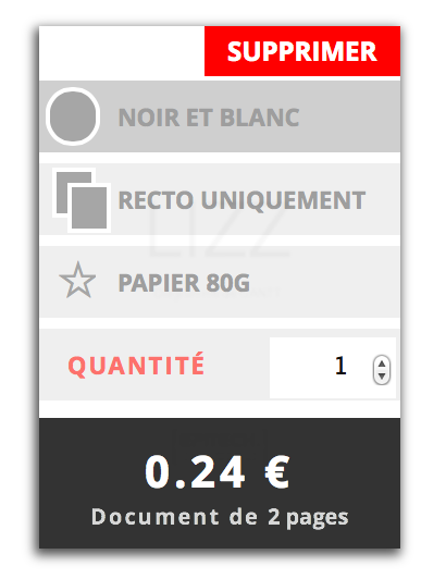 Options d'impression en ligne